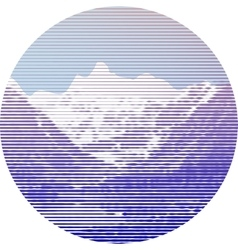 Striped mountain landscape vector