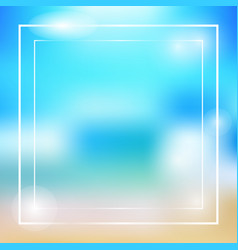 summer theme colorful frame vector image