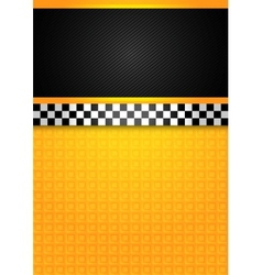 taxi cab - blank template vector image