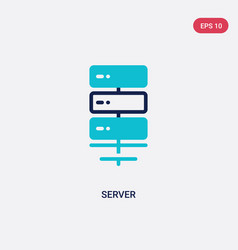 two color server icon from electronic devices vector image