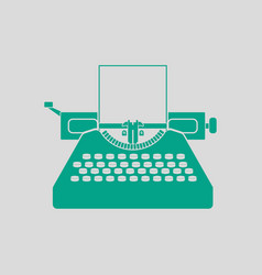 typewriter icon vector image