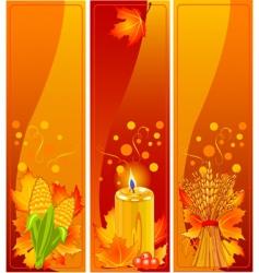 Vertical harvest banners vector