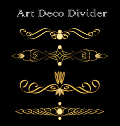 vintage typographic divider in art deco design vector image