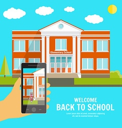 Welcome back to School background with place for vector