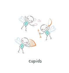 Cupids vector image vector image