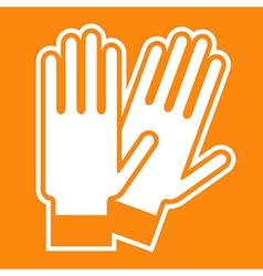 Gloves sign vector