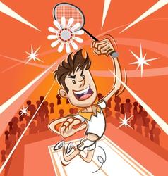 Male Badminton Player vector image vector image