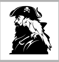 pirate with a parrot on his shoulder vector image