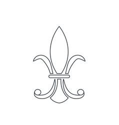 vintage element decoration victorian line vector image vector image