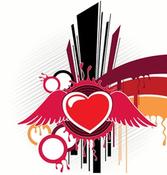 abstraction with heart artwork vector image vector image