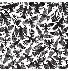 background pattern with eagles icons vector image