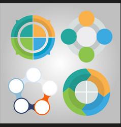 business diagram infographics set vector image