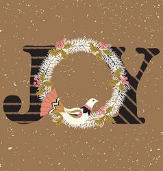 Joy hand lettering vector