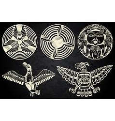 North america and canada native art vector
