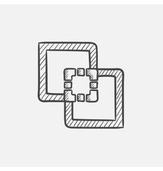 Outline sketch icon vector