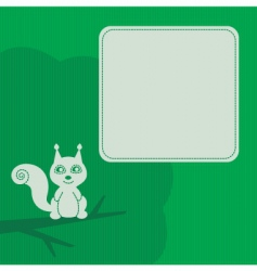 squirrel frame vector image vector image