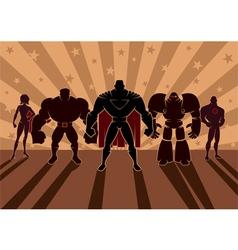 Superhero team vector