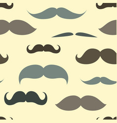 Trendy pattern with mustache vector image