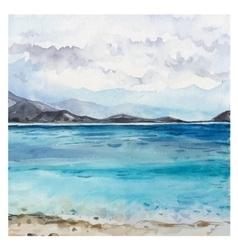 Watercolor Sea background vector image
