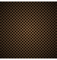 light brown metal background with round hole and vector image