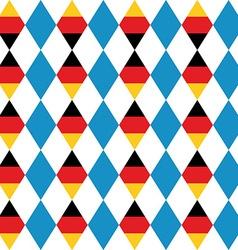Oktoberfest seamless pattern of blue rhombus vector image vector image