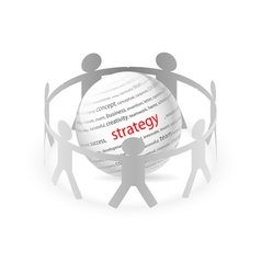 People Chain strategy vector image