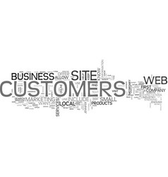 What customers expect from your web site text vector