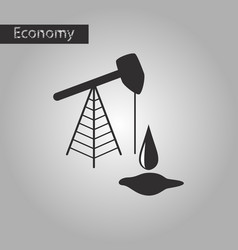 Black and white style icon oil well vector