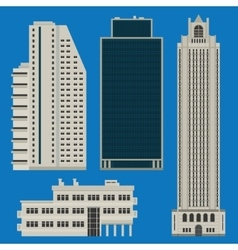 Buildings set with skyscrapers vector image vector image
