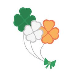 bunch clover flag irish st patricks day vector image vector image