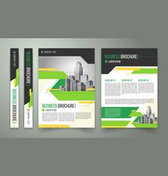 flyer cover design business brochure vector image