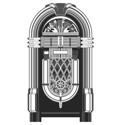 Jukebox - automated retro music-playing machine vector image vector image