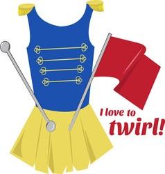 Love to twirl vector