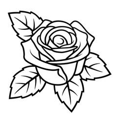 rose sketch 004 vector image vector image