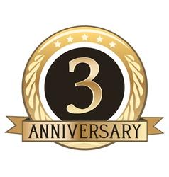 Three Year Anniversary Badge vector image