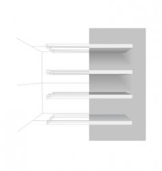 vector shelves vector image vector image