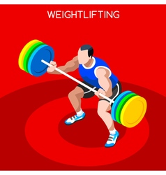 Weightlifting 2016 Summer Games 3D Isometric vector image vector image