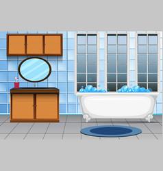 A modern bathroom interior vector