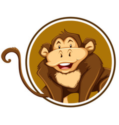 a monkey sticker template vector image