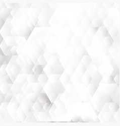 abstract white and gray geometric hexagons shapes vector image