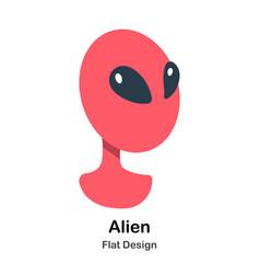 Alien flat vector