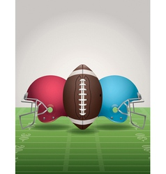 American Football Helmets Background Vertical vector