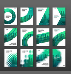 Annual report brochure cover design layout set vector