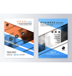 Annual report brochure vector image