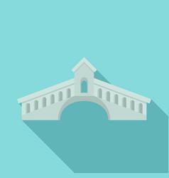 architecture bridge icon flat style vector image