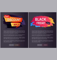 best discount 30 black friday vector image