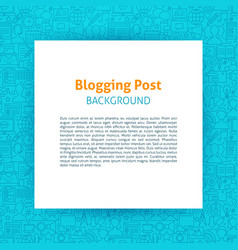 Blogging paper template vector