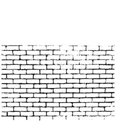 brick wall of negative space vector image
