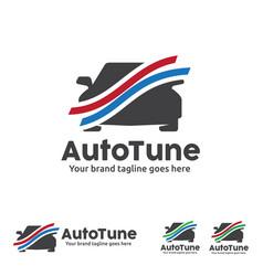 car graph logo automobile analysis car tune vector image