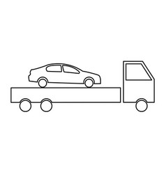 car service the black color icon vector image